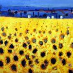 Sunflowers Provence by David Wheeler