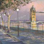 Tower Bridge and Embankment - Michael Sanders by Michael Sanders