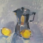 Coffee pot and lemons by Andrew Tozer