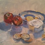 Lunchtime: Camembert apples and biscuits by ANdrew Tozer