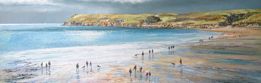 Polzeath Beach by MICHAEL SANDERS