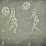 High wire rain shower by Trevor Price